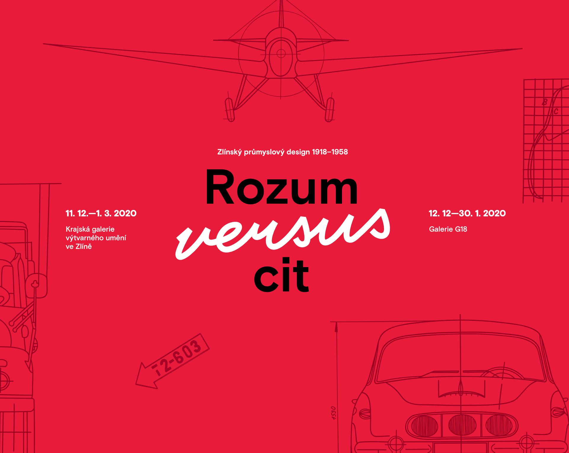 banner k výstavě Rozum versus cit